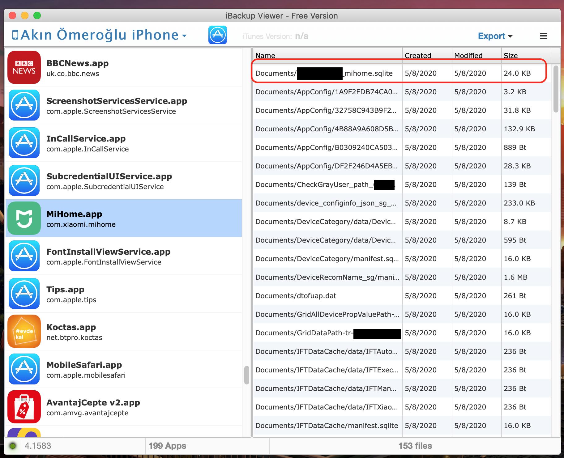 token için gerekli dosyayı gösteren yazılımın ekran görüntüsü